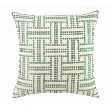 Embroidered Basket Weave Linen Throw Pillow