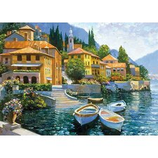 Lake Como Landing by Howard Behrens Painting Print on Canvas