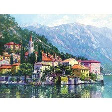 Reflections of Lake Como by Howard Behrens Painting Print on Canvas