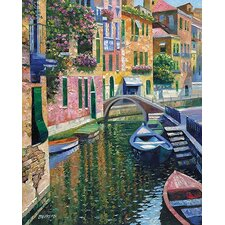 Romantic Canal by Howard Behrens Painting Print on Canvas