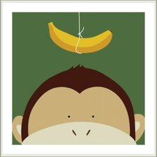 Peek-A-Boo Monkey by Yuko Lau Framed Art