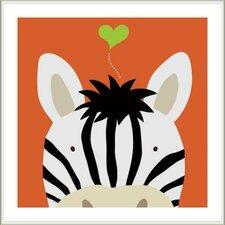 Peek-A-Boo Zebra by Yuko Lau Framed Art