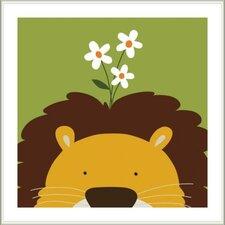 Peek-A-Boo Lion by Yuko Lau Framed Art