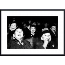 Boys Laugh at Children's Movie Session by Paul Kaye Framed Photographic Print