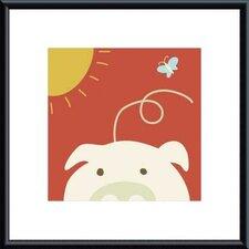 Peek-a-Boo IV Pig by Yuko Lau Framed Art