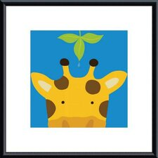 Peek-A-Boo Giraffe by Yuko Lau Framed Art