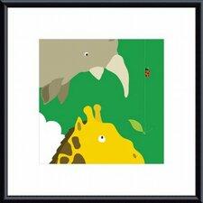 Safari Group Giraffe and Rhino by Yuko Lau Framed Art