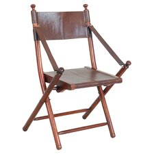 Franca Teak and Leather Tarlton Chair