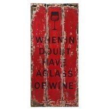 """Schild """"Cabin Tamarit Wine"""", Typografische Kunst"""