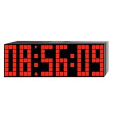 Large Lattice LED Multi-Alarm / Countdown / Up Clock with Remote