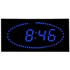Super Bright LED Ellipse Blue LED DOT Clock