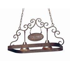 Bon Appetit 2 Light Hanging Pot Rack