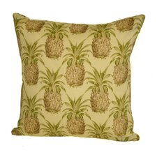 Coastal Pineapple Indoor/Outdoor Throw Pillow