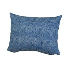 Waves Indoor/Outdoor Throw Pillow