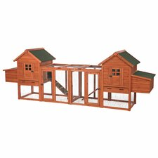 Duplex Chicken Coop with Outdoor Run