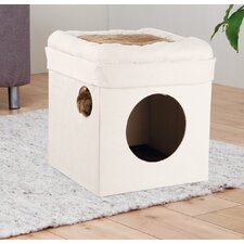 """14.75"""" Miguel Fold and Store Collapsible Cat Condo"""