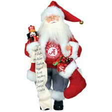 "NCAA 15"" Santa with Nutcracker"