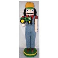 Farmer with JD Tractor Nutcracker
