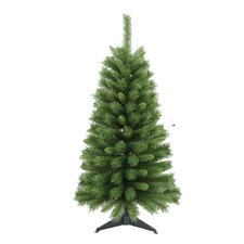 4.1' Green Pine Artificial Christmas Tree with Stand