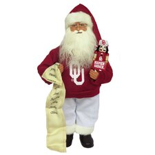 Oklahoma Santa with Mascot Figurine