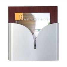 One Tapered Pocket Magazine Rack