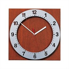 Floating Face Wall Clock with Square Back