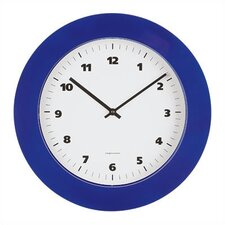 Round Wall Clock with Black or Grey ABS lacquered Bezel
