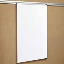 Tactics Plus® Track Writing Wall Mounted Magnetic Whiteboard, 4' H x 3' W