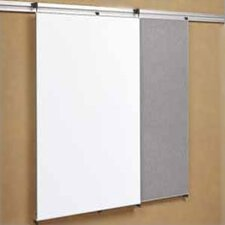 Tactics Plus® Track Tackable Panel/Writing Wall Mounted Magnetic Whiteboard, 4' H x 3' W