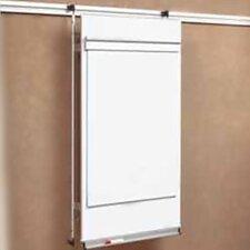 Tactics Plus® Track Level 2 Flip Chart Wall Mounted Whiteboard, 4' H x 3' W