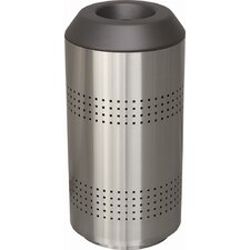 Timo 35-Gal Receptacle with Perforated Sides