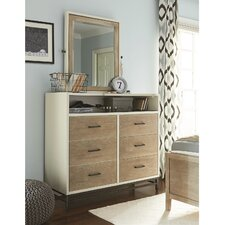myRoom 6 Drawer Chest with Mirror