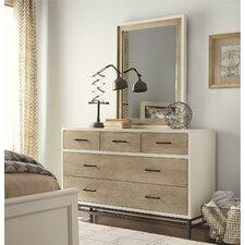 myRoom 5 Drawer Dresser with Mirror
