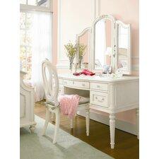 Gabriella Vanity Desk with Hutch