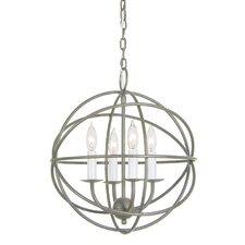 4 Light Globe Chandelier