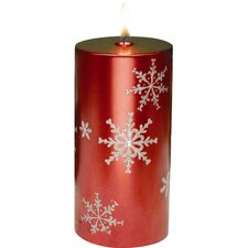 Snowflake Pillar Candles (Set of 2)