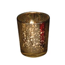 Rustic Glass Votive Candle Holder (Set of 4)