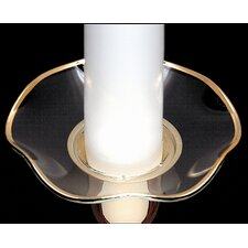 Serrated Edge Glass Bobeche Candle Holder (Set of 4)