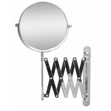 """13.8"""" H x 23.75"""" W Extendable Wall Mount Magnifying Makeup Mirror"""