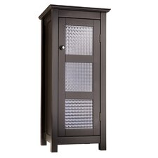 Chesterfield Floor Cabinet with 1 Glass Door