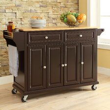 Allison Kitchen Island with Wood Top