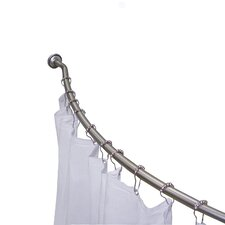 Curved Rod and Curtain Set
