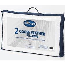 Goose Feather Standard Pillow (Set of 2) (Set of 2)