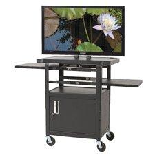 Height Adjustable Flat Panel AV Cart