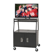 Wide Body Flat Panel AV Cart