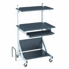 BALT® Totally Adjustable Sit/Stand Mobile Workstat AV Cart
