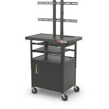 Flat Panel AV Cart with Cabinet