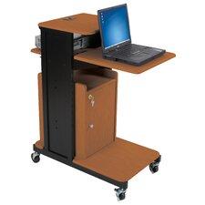 Locking Cabinet for Extra Long Presentation AV Cart