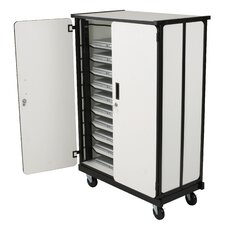 10-Compartment Tablet Storage Cart