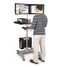 Adjustable Beta Cart 2 Screen Monitor Mount AV Cart
